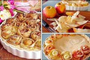 rózsás almás pite